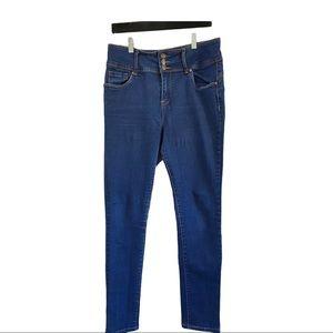 Bamboo dark wash high rise skinny jeans size 17